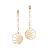 Half Sun Gold Earrings Gazza Ladra