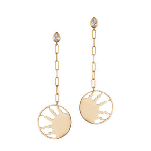 Half Sun Gold Earrings