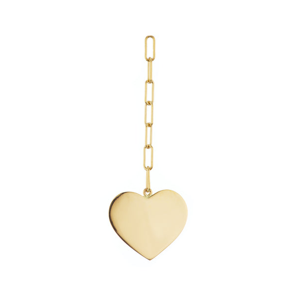 14k gold heart earring