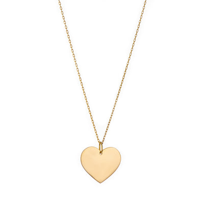 Handmade casual gold heart necklace