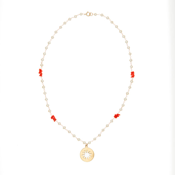 Pearly Sun Necklace