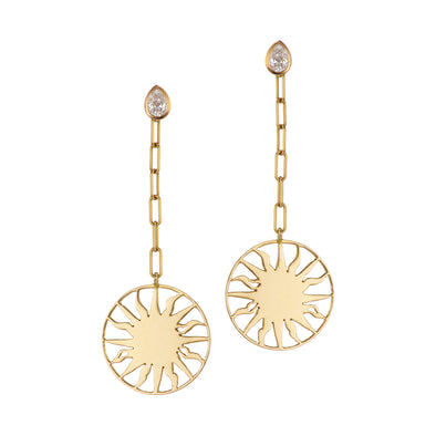 Roman Sun Earrings