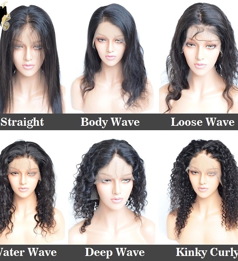 Full lace wigs in different styles