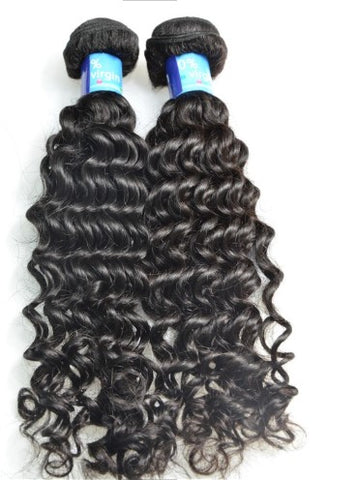 Deep wave/ Remy virgin hair 100% Human  Brazilian Hair Weft Bundles - wevegoturhair.com