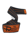 Personal Record Heavy Duty Premium Straps-PR902- Black/Orange