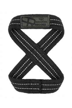 Personal Record Heavy Duty Premium 8 Figure Lifting Straps - PR909 - Black/Grey