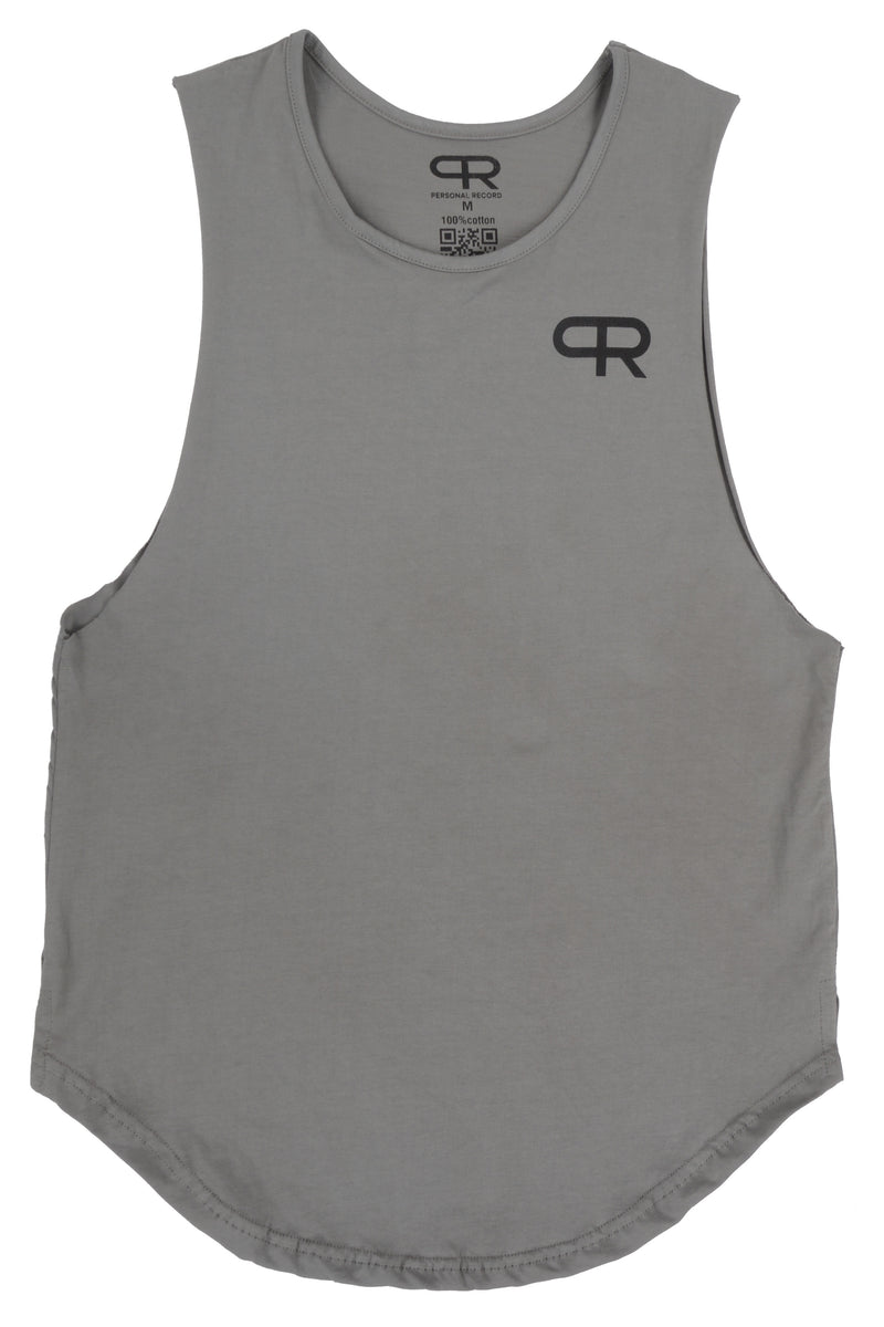 Personal Record Muscle Tank-PR310- Sage