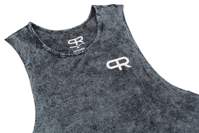 Personal Record Muscle Tank-PR310- Mineral Stone Wash