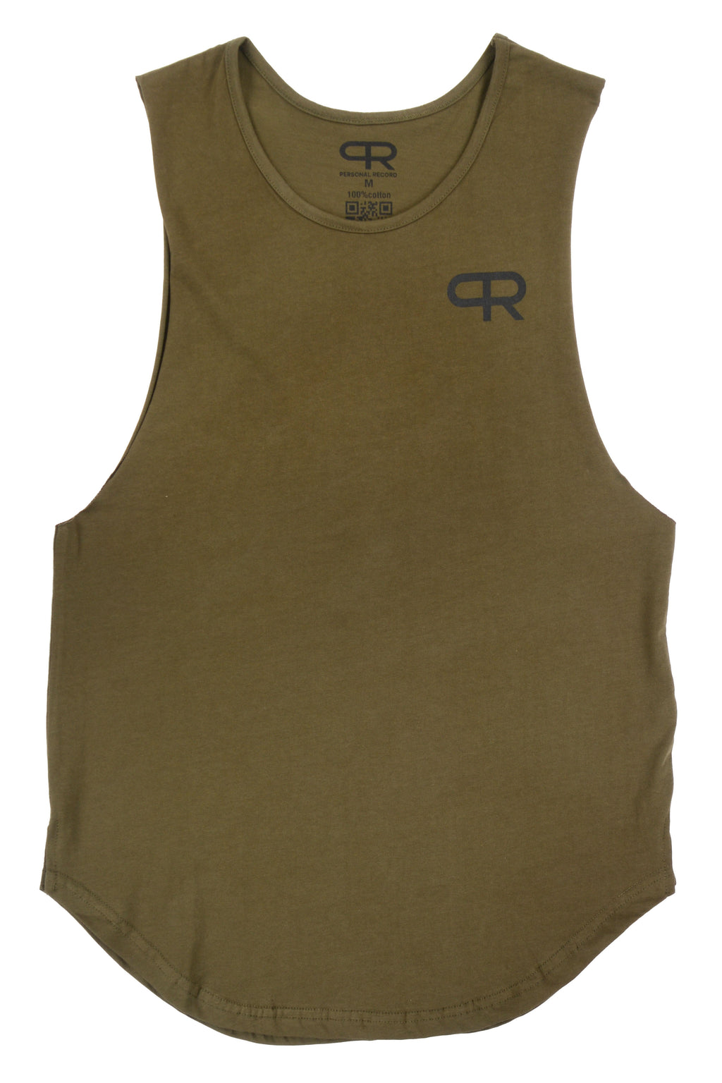 Personal Record Muscle Tank-PR310- Olive