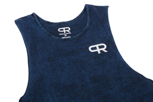 Personal Record Muscle Tank-PR310- Mineral Wash Blue