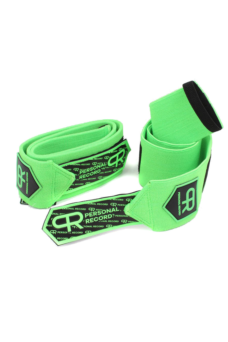 Personal Record Heavy Duty Premium Elbow Wraps PR903 - Neon