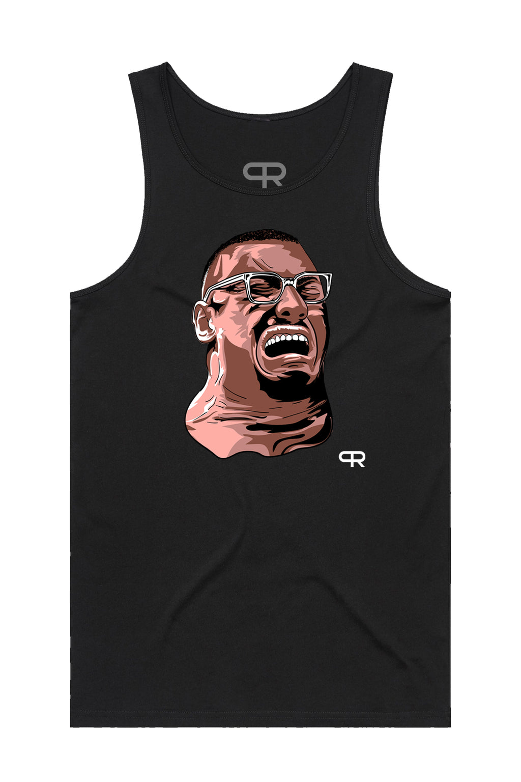 PR Faces of Larry Tank Top- Black
