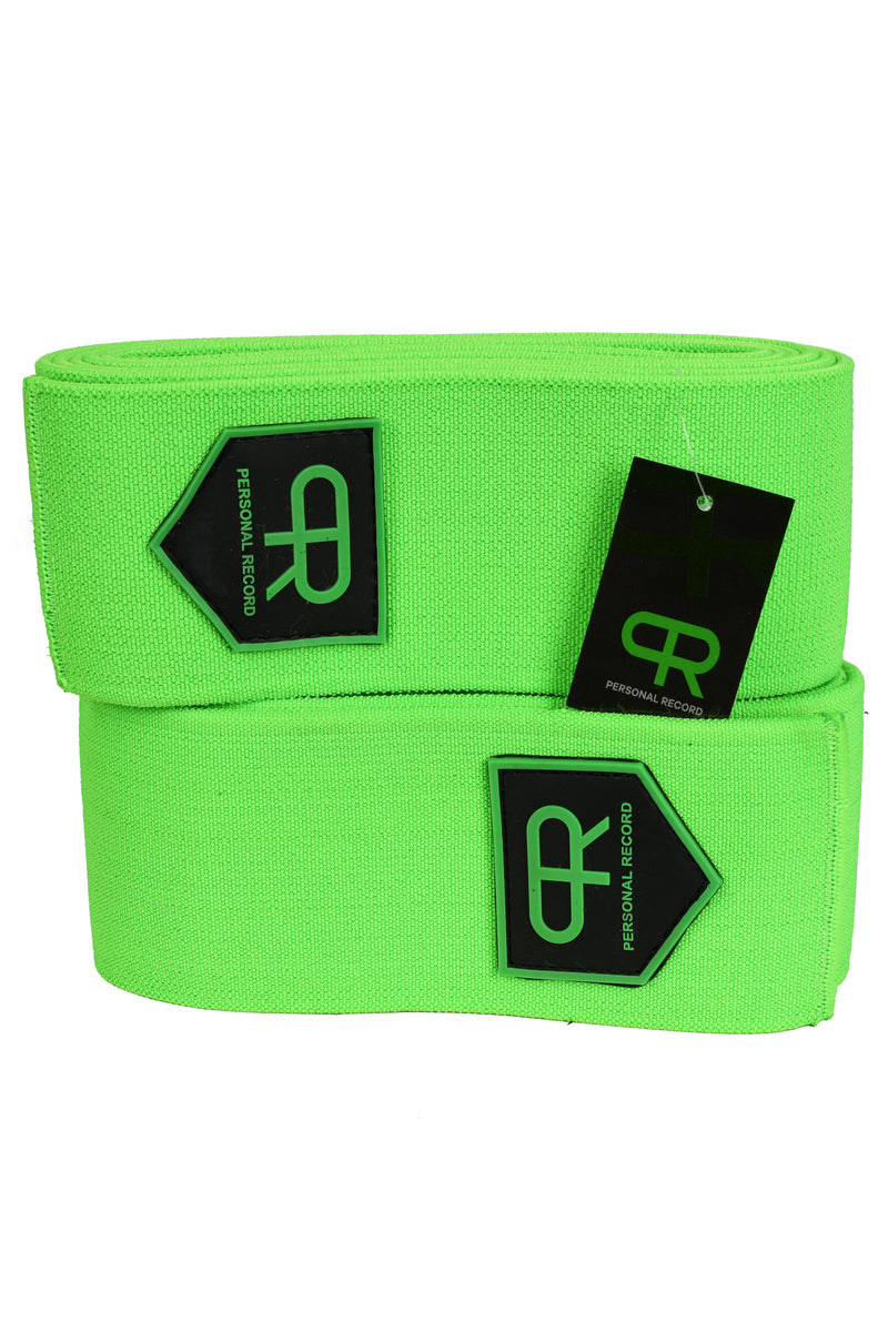 Personal Record Heavy Duty Premium Knee Wraps PR906 - Neon
