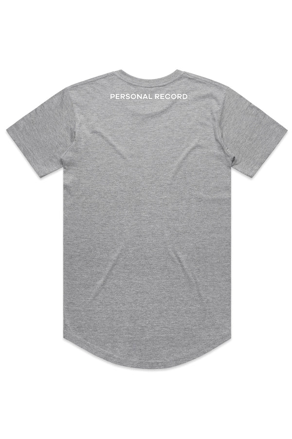 PR Basic Logo Elongated Shirt-PR403- Heather Grey
