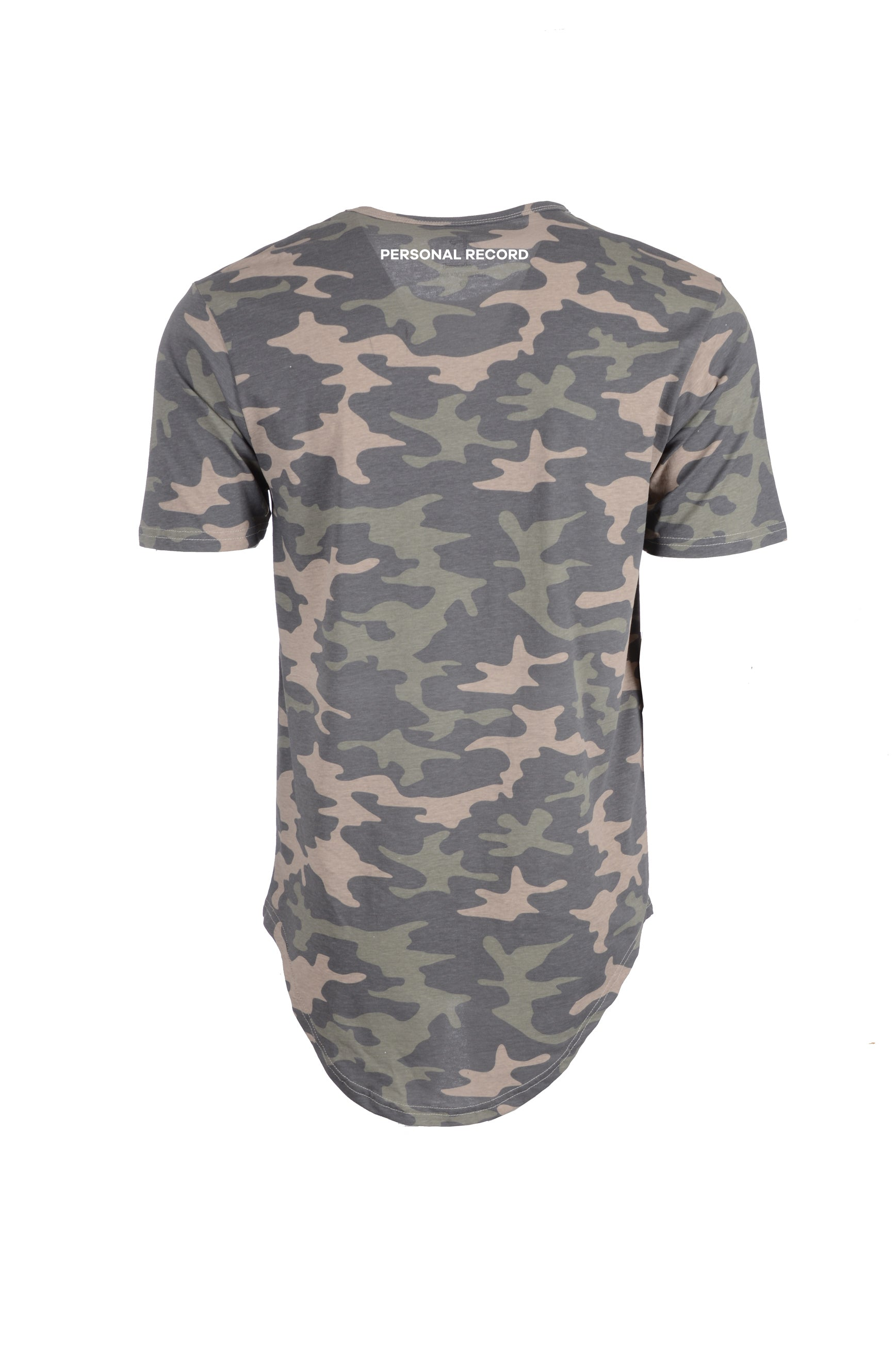 PR Basic Logo Elongated Shirt-PR403- Khaki Camo