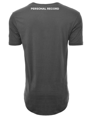 PR Basic Logo Elongated Shirt-PR403- Cool Grey