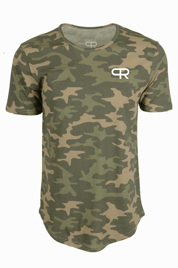 PR Basic Logo Elongated Shirt-PR403- Riverstone Camo
