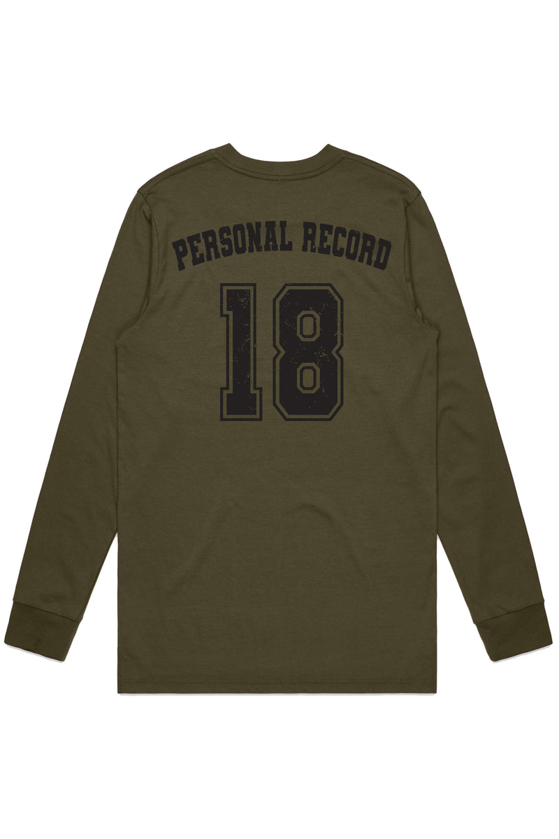 Personal Record 18 Long Sleeve-PR412- Olive