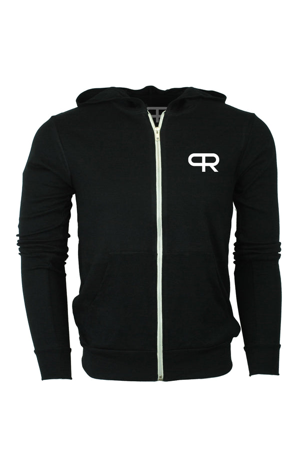 PR ATWR Lightweight Zip-Up Hoodies- Black