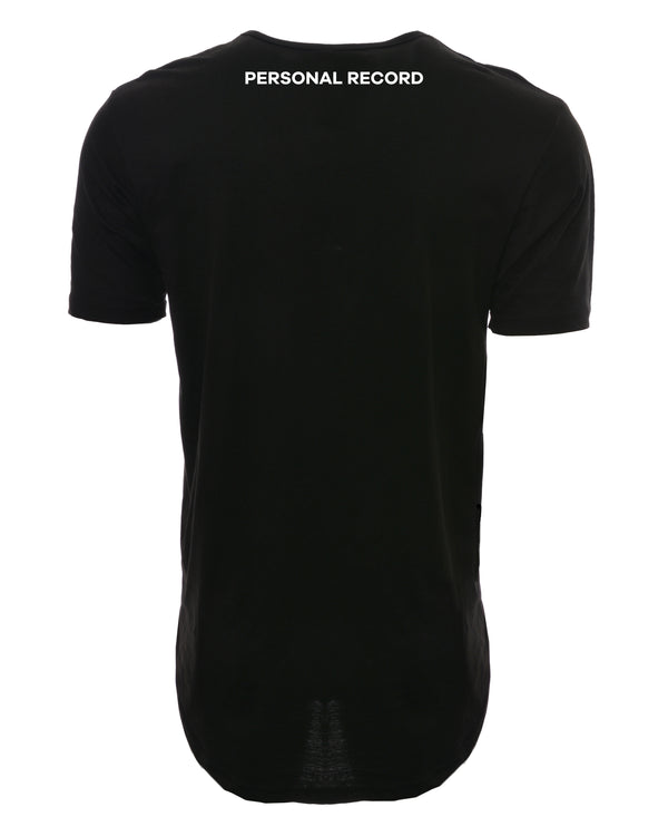 PR Basic Logo Elongated Shirt-PR403- Black