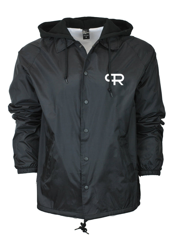 PR Fleece Hoodie Windbreaker Jacket- Black
