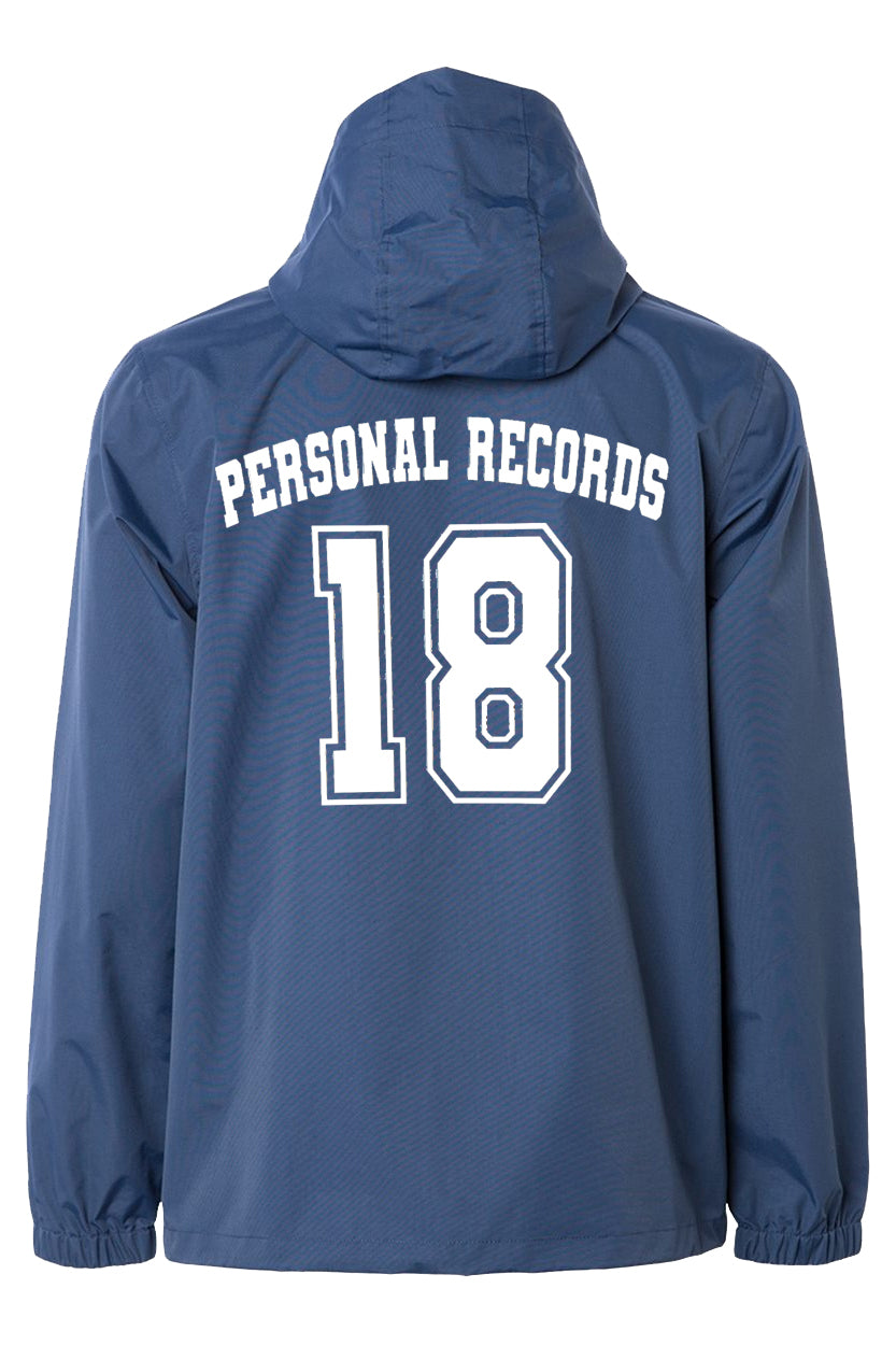 Personal Record 18 Anorak Windbreaker Jacket- Navy