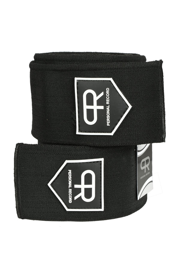 Personal Record Heavy Duty Premium Knee Wraps PR906 - Black