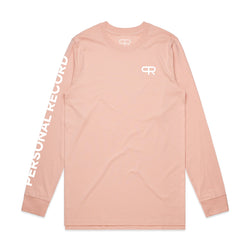 PR Long Sleeve with Sleeve Print-PR410-Salmon