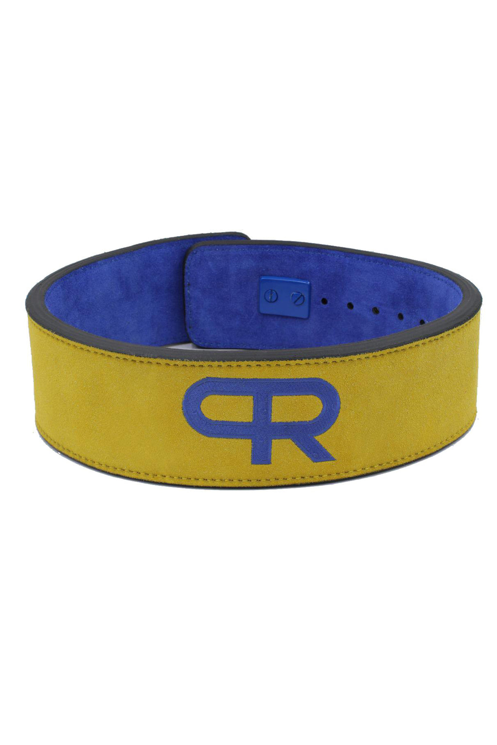 PR Powerlifting 13mm Belt w/ Lever Buckle - Blue/Yellow