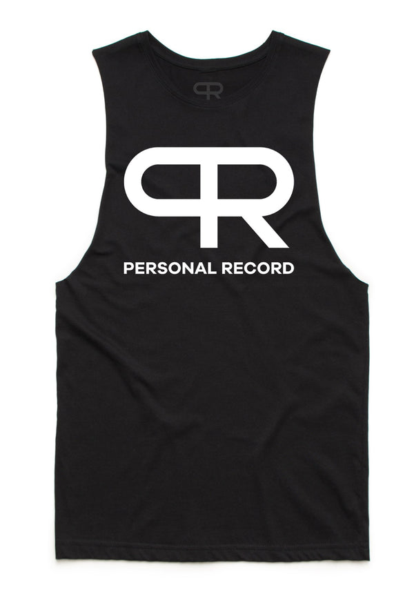 Personal Record Cut-off Tank-PR301- Black