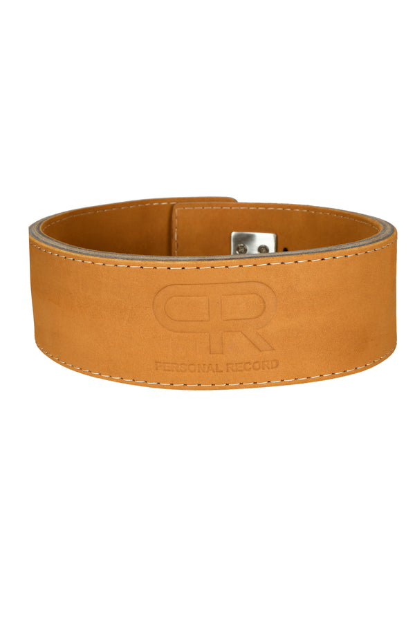 PR Powerlifting 13mm Belt w/ Stainless Steel Lever Buckle - Brown