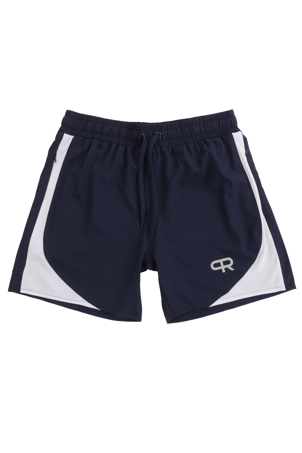 PR Lifting Shorts W/Zipper Pockets - PR102- Navy/White