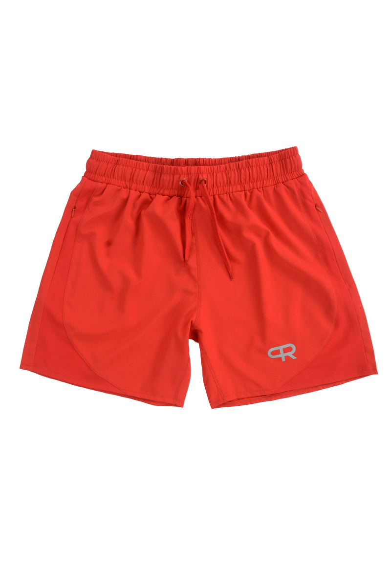 PR Lifting Shorts W/Zipper Pockets PR102 - All Red