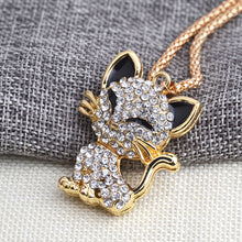 Cat necklace with rhinestones NOW 50% OFF