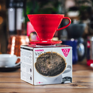 Hario Coffee Dripper V60 02 Ceramic Red