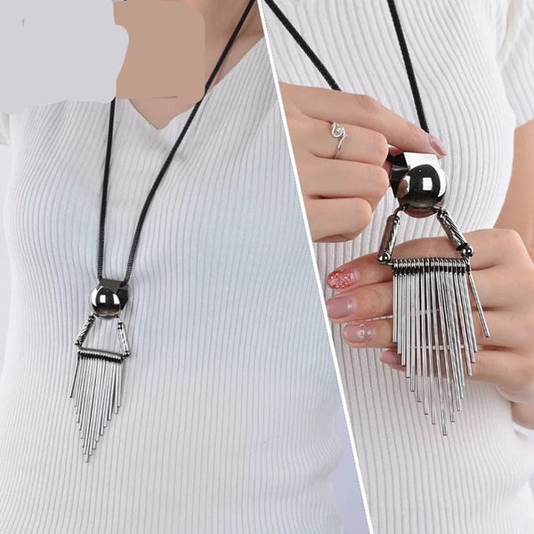 Drop Long Paragraph Sweater Pendant