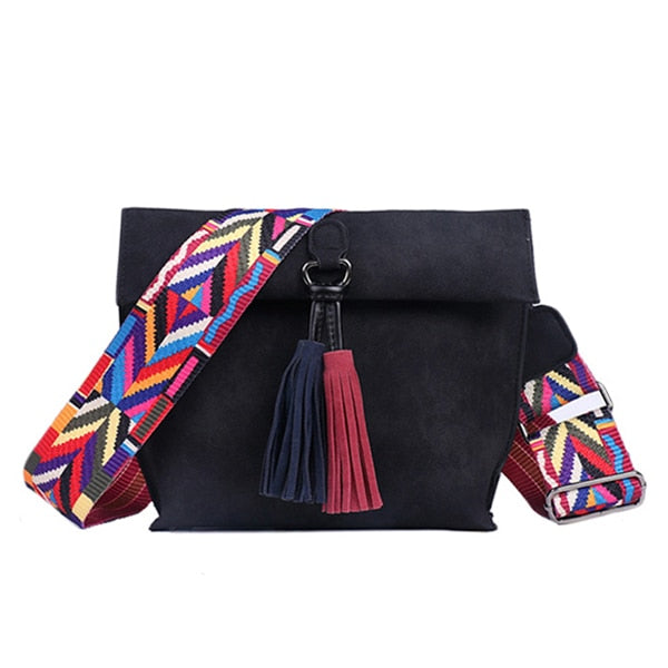 The Colorful Tassel Shoulder Bag Is Funky and Fun!