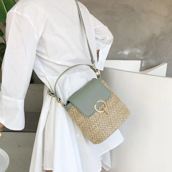 The Leftside Straw Crossbody Bag has Fresh Summer Vibes in Spades!