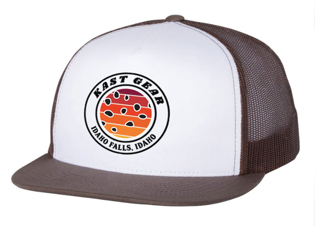 Brown Trout Sunrise Trucker Hat