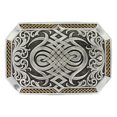 Montana Silversmiths Gold Celtic Retro Buckle