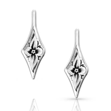 Montana Silversmiths Antiqued Wildflower Diamond Earrings