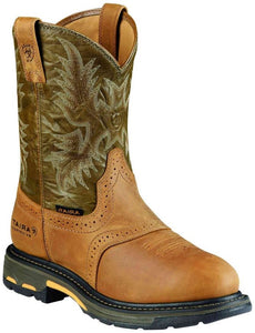 Men's Ariat WorkHog Aged Bark Waterproof Pro Work Boots