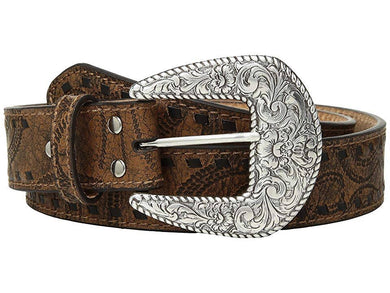 Women's Nocona Buck Laced Edge Brown Belt