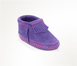 Minnetonka Riley Bootie Purple Baby Moccasins