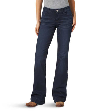 Women's Wrangler Mae Dark Wash Trouser Jeans