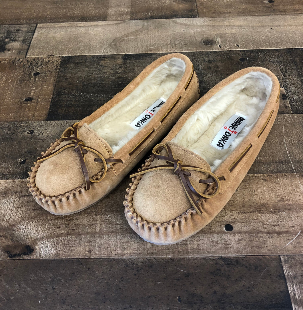 Women's Minnetonka Cally Cinnamon Moccasin