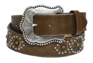 Women's Tony Lama Brown Nashville Nights Belt