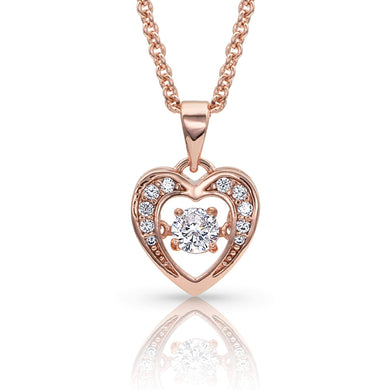 Montana Silversmiths Let's Dance a Little Dance Rose Gold Heart Necklace