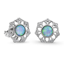 Load image into Gallery viewer, Montana Silversmiths River of Lights Snowflake Opal Earrings