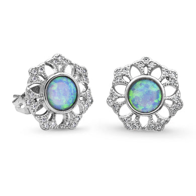 Montana Silversmiths River of Lights Snowflake Opal Earrings